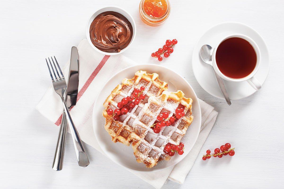 Waffle de liquidificador